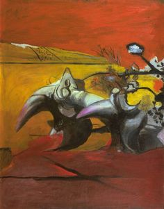 Graham Sutherland OM 'Horned Forms', 1944 © The estate of Graham Sutherland English Artists, British Artists, Thing 1, Art Database, Modern Artists, Art Uk, Cool Artwork, Art Forms, Contemporary Art