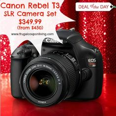 Canon EOS Rebel T3 Sale – SLR Camera Set $349 from $450 Today #HotDeals