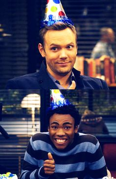 Community--Jeff (Joel McHale) and Troy (Donald Glover)
