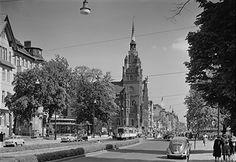 1955 Schloss-Strasse und Rathaus Steglitz