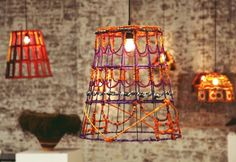 a fabulous collaboration between Australian design house, Koskela and The Tjanpi Desert Weavers to create lampshades utilizing woven and wrapped grass Black Ceiling, Ceiling Rose, Ceiling Lights, Interior Lighting, Lighting Design, Funky Lighting, Lighting Ideas, Lamp Light, Light Up