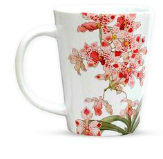 PHOTO: Delicate orchids decorate a white china tea mug. Chicago Botanic Garden, Orchid Show, Project Ideas, Projects, White China, Practical Gifts, Tea Mugs, Art Lessons, Orchids
