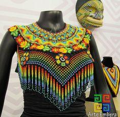 """OKAMA """"Diseño exclusivo"""" de la asociación  jaipono #ArteEmbera @arte_embera  Todo hecho a mano   Por nosotros Indigenas   EMBERA CHAMI #asociacionjaipono #expoartesano2017  #expoartesano #europe #exclusive #cooler #black  #trendy #ootd #outfit #fashion #style #mostacilla #necklace #etsy #etsyfinds  #necklace #newcollection #newyear #newyork #instafashion #indigenas #embera #emberachami"""