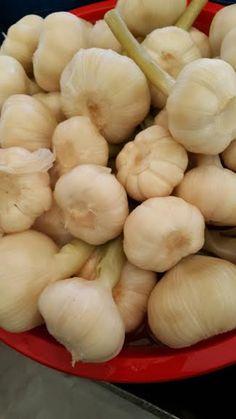 SARIMSAK Turşusu, Annemineli / Bursa Georgian Food, Pickles, Garlic, Turkey, Food And Drink, Salad, Vegetables, Recipes, Kitchens