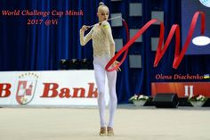 Olena DIACHENKO (Ukraine)🇺🇦 ~ Ribbon @ World Challenge Cup Minsk 05-06/08/'17🇧🇾 ☘☘