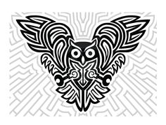 Futuristic Celtic Owl by mbosn.deviantart.com on @deviantART
