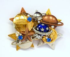 CELESTIAL STARS MOON Sun Sky Planets Jewelry Pin by jewelrypins