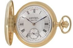 """Gevril Men's G624.950.56 """"1758 Collection"""" Mechanical Hand Wind Swiss Pocket Watch 