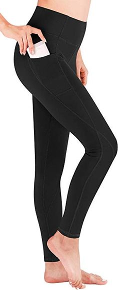 640d00f3d9a95 Amazon.com: Heathyoga Yoga Pants with Pockets High Waist Leggings for Women  Girls Workout