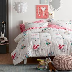 Woodland Fantasy Percale Comforter at The Company Store - Bedding - Comforters - Down Alternative Comforters - Fq