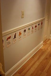 The alphabet hallway, (very) semi-homemade