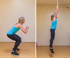 A No-Equipment Total-Body Workout For Any Space: Jump Squats | FitSugar