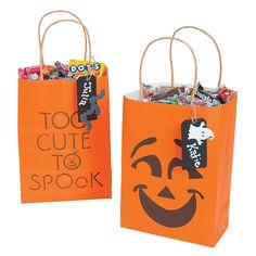 """Too Cute To Spook"" Treat Bags Idea - OrientalTrading.com"