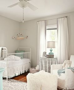 Multiple cute and calming nursery color concepts