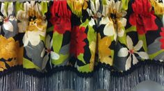 "Garden Delight 50""w Glory Valance with coordinated fabric. Starting @ $59.99.To Order Call toll-free 877-722-1100"