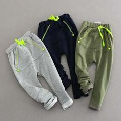 SQBCMW 2019 hot sale Kids Spring Autumn Clothes Children Harem Pants for boys trousers Girls solid pants Baby Boy Fashion, Toddler Fashion, Kids Fashion, Girls Clothing Stores, Boys Clothes Style, Autumn Clothes, Kid Styles, Fashion Pants, Boy Outfits