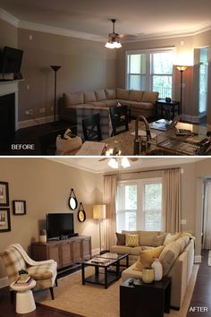Before And After: Vinings Living Room