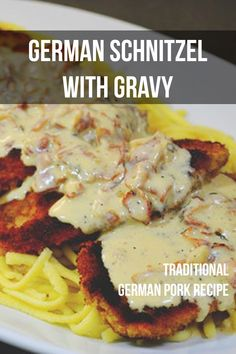 Make traditional German Schnitzel at home with this classic pork chop recipe. Chicken Parmesan Recipes, Best Chicken Recipes, Pork Recipes, Baked Chicken, Chicken Snitzel Recipe, German Pork Recipe, Schnitzel Recipes, Kitchens, Pork