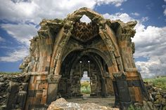 """Registered on the UNESCO World Heritage List, the Ani archaeological site, also known as the """"city of a thousand and one churches"""", attracts tourists all Derelict Places, Abandoned Places, Abandoned Castles, Church Pictures, Fantasy Castle, Ancient Ruins, Ancient Artifacts, Ancient Greece, Ancient Egypt"""