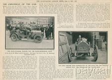 1907 Article Werner 4 cylinder Car Auto French Grand Prix Race