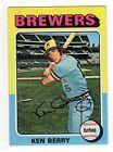 Topp's 1975 Mini Baseball Card #432 - Milwaukee Brewers Ken Berry
