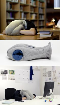 The Ostrich Pillow. Take a nap anywhere. WANT!