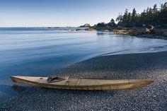 Traditional skin on frame kayak from Seawolf