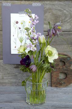 DIY: Fin forårsbuket i lilla nuancer | ISABELLAS