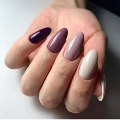 Colorful nails Multi-color nails Nails for spring dress Oval nails Red oval nails Spring nail art Spring oval nails Women day nails Nail Art Design Gallery, Best Nail Art Designs, Spring Nail Art, Spring Nails, Winter Nails, Nails Decoradas, Uñas Fashion, Oval Nails, Oval Nail Art