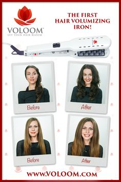 VOLOOM - The first hair volumizing iron! Get huge volume that lasts for days in just minutes with this new patented plate technology.