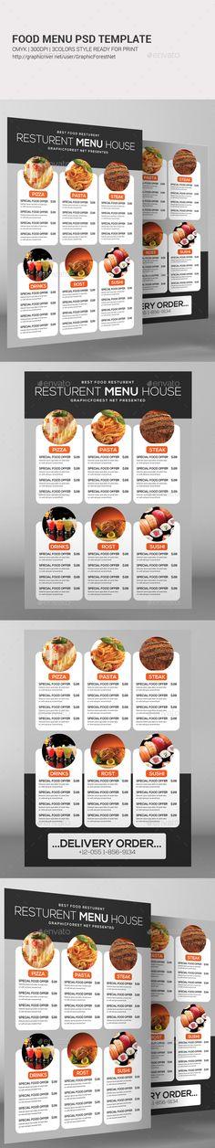 Food Menu Template PSD. Download here: http://graphicriver.net/item/food-menu-psd-template/15843852?ref=ksioks