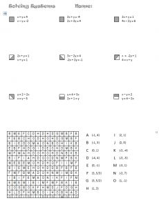 Printables Systems Of Equations Worksheet seasonal systems of equations math pinterest activities alien search and shade