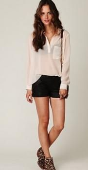 How to Wear: Leather Shorts #Tidbits