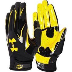 The Under Armour Alter Ego Batman gloves will make you unstoppable. Batman Room, I Am Batman, Batman Art, Batman Stuff, Football Receiver Gloves, Football Gloves, Football Gear, Flag Football, Football Season