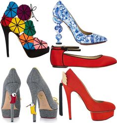 Charlotte Olympia Shoes and Handbags Fall/Winter 2014-2015  #shoes