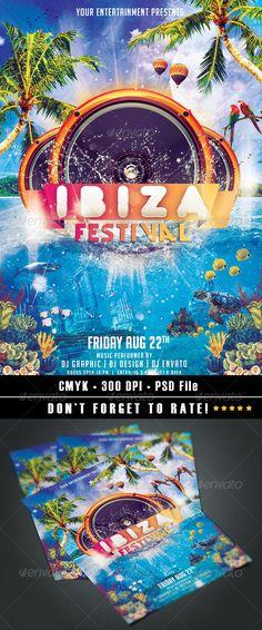 Ibiza Festival Flyer  #graphicriver