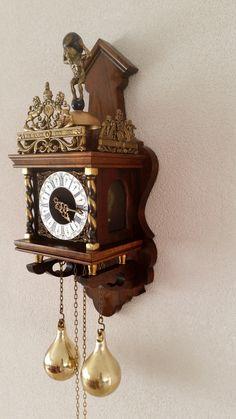 Vintage Nu Elck Syn Sin Dutch Rich Man S Wall Clock West
