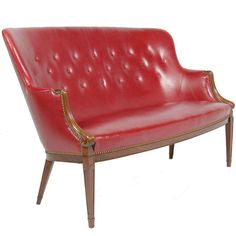 Settee by Frits Henningsen | From a unique collection of antique and modern settees at http://www.1stdibs.com/furniture/seating/settees/