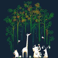 Repaint the forest is a T Shirt designed by radiomode to illustrate your life and is available at Design By Humans