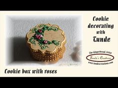 How to make a gingerbread gift box with roses - YouTube