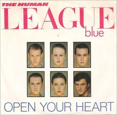 """For Sale - Human League Open Your Heart UK  7"""" vinyl single (7 inch record) - See this and 250,000 other rare & vintage vinyl records, singles, LPs & CDs at http://eil.com"""