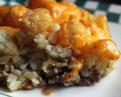 Tater-Tot Casserole just made this tonight.