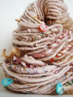 Hand Spun Art Yarn - Maryada by Yarnmantra, via Flickr