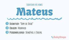 #Mateus #babysteps #significado #nomes #bebé #menino