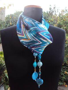 """foulard-collana in fantasia geometrica by """"Fatto a Forio d'Ischia"""""""