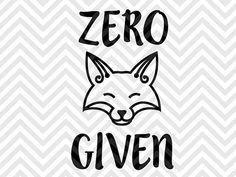 Zero Fox Given SVG file - Cut File - Cricut projects - cricut ideas - cricut explore - silhouette cameo projects - Silhouette projects by KristinAmandaDesigns More