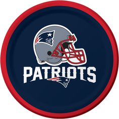 Bulk New England Patriots Dessert Plates - 8 / pkg, 12 pkgs / case