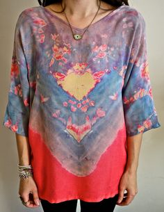 Love tie dye blouses especially those with red, blues and purple