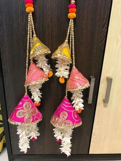 25 Trending Tassels For Lehengas to Amp up the Wedding Look Diwali Decorations, Festival Decorations, Hand Embroidery, Embroidery Designs, Saree Tassels Designs, Rakhi Design, Diwali Craft, Fru Fru, Passementerie