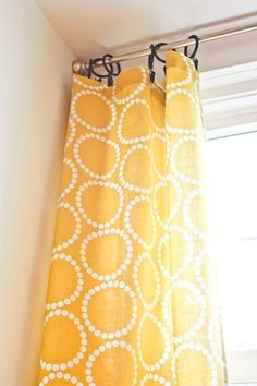 kitchen curtains (Also, reminder to self to make fabric stamp in this pattern)